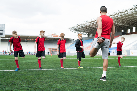 Warm-Up before Football Practice