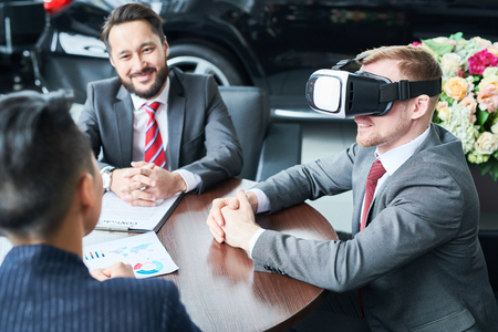 New technology in business Stock Photo