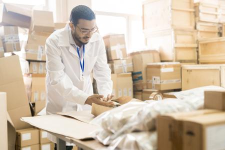 Factory Worker Packing Pressure Sensors