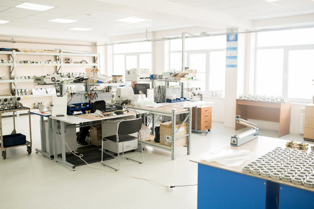 Interior of Measuring Device Factory