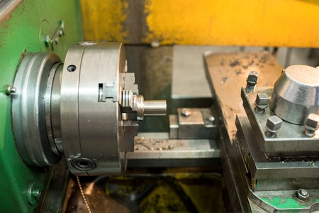 Processing detail on milling lathe 写真素材