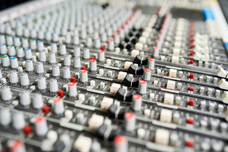 Close-up of control panel knobs Stock Photo