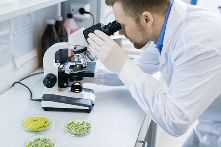 Scientist Using Microscope Zdjęcie Seryjne