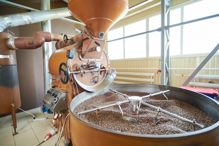 Coffee Roasting Drum Machine in Workshop