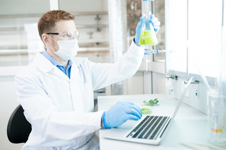 Man doing Research in Laboratory