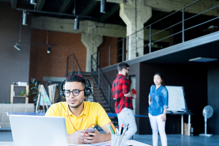 Contemporary Middle-Eastern Man in Office Stock Photo