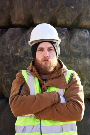 Tough Industrial Worker Outdoors
