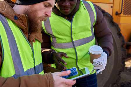 Miners Using Digital Tablet