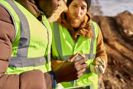 Miners Inspecting Land  for Minerals