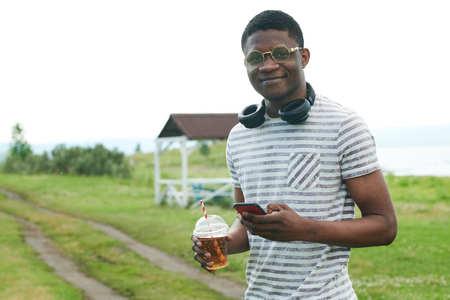 African man outdoors