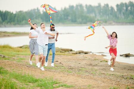 People having fun outdoors