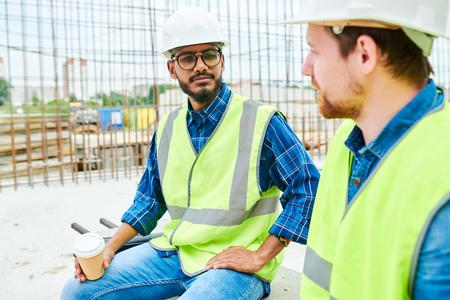 Workers Chatting on Break