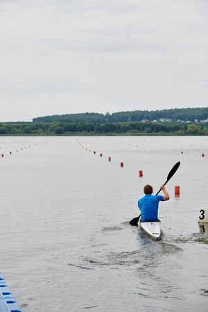 Sport competition on canoe