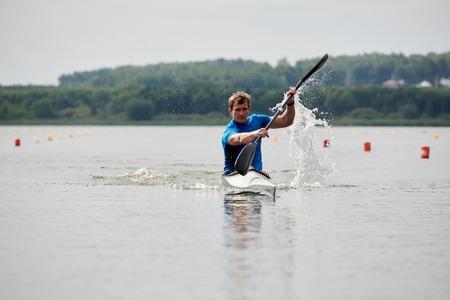 Canoe sport on the lake 写真素材
