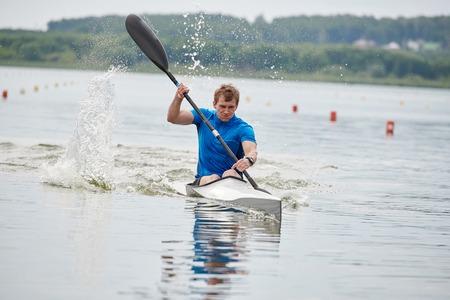 Kayaker in the kayak