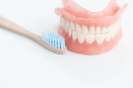 Tooth brushing Technique Stock Photo