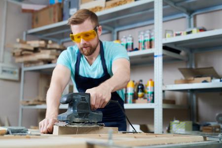 Skilled craftsman at work