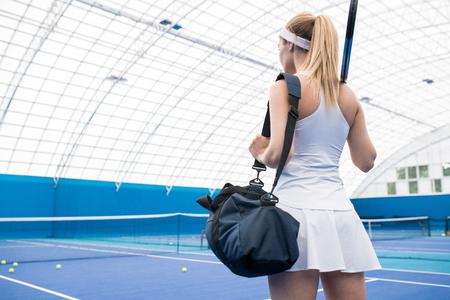 Cute Tennis Player in Skirt