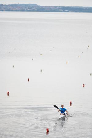 Kayaking watersport on the lake