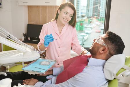 Female Dentist Working Stock Photo - 108969571