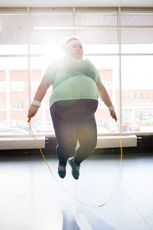 Fat Woman Jumping Rope
