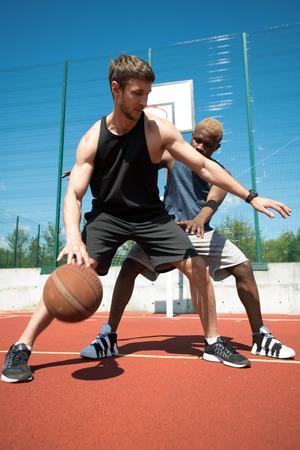 Basketball Match Outdoors Stock Photo