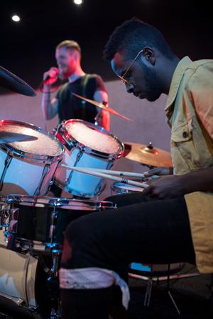 Band Drummer 版權商用圖片