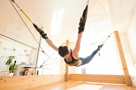 Anti-gravity yoga exercise