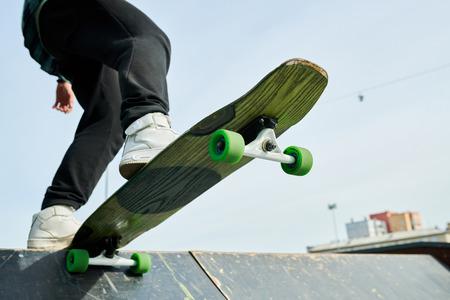 Skater on Ramp Closeup Foto de archivo - 111343815