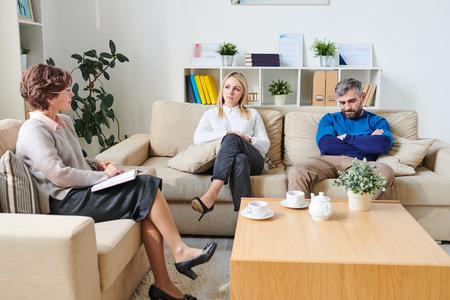 Couple visiting psychologist