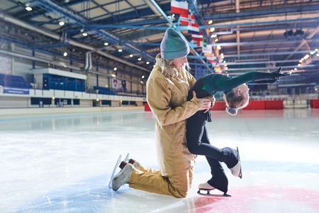 Girl in Figure-Skating Training