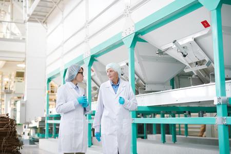 Tour of Modern Factory Stock Photo