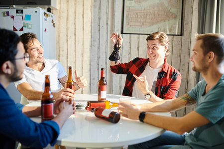 Male party at home Stock Photo