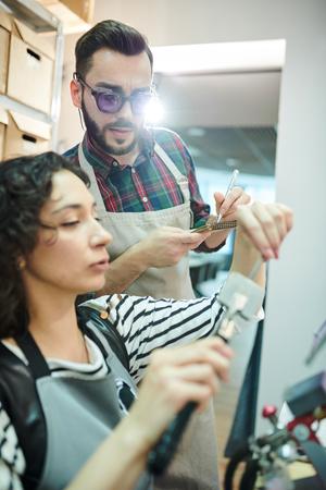 Artisans in Glassworking Shop