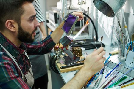 Man Doing Glasswork
