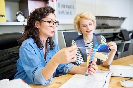 Designers Choosing Colors for Print
