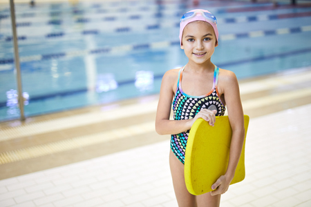 Little swimmer in the pool