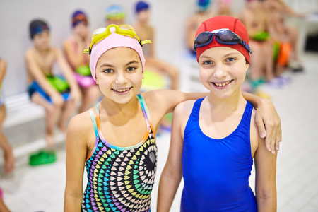 Children in swimsuit Stock Photo