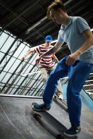 Skateboarding guys