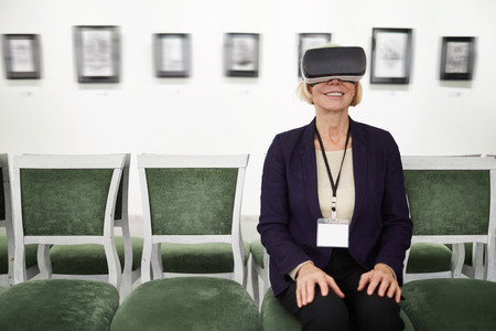 Woman Watching VR in Museum