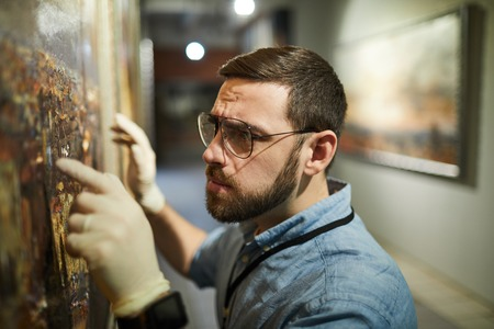 Renowacja malarstwa Zdjęcie Seryjne