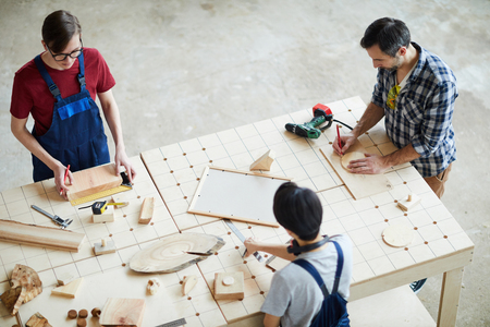 Making wooden detail for interior design