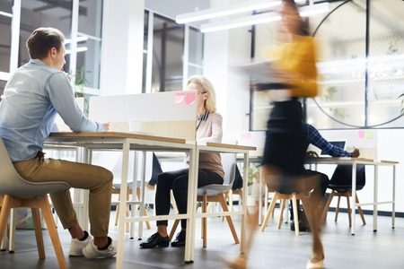 Work lifestyle in modern office