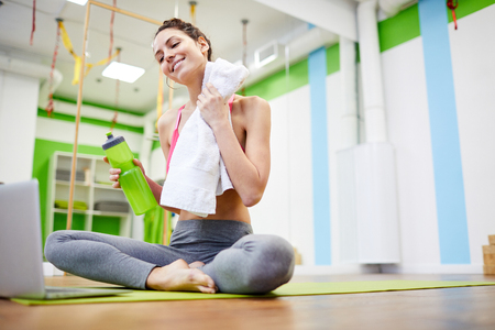 Refreshed Woman in Gym