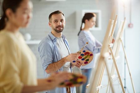 Work in studio of arts