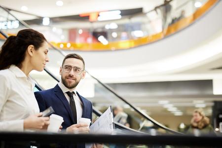 Brokers interacting Stock Photo