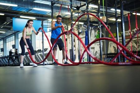 Training with ropes Standard-Bild