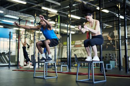 Training in fitness center