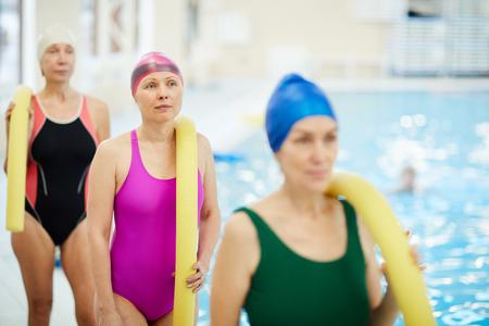 Senior Women by Pool Banco de Imagens
