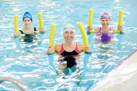 Group of Women doing Water Aerobics